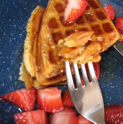 Waffles+++strawberries