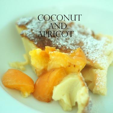 Apricot-coconut-clafouti