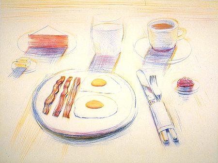 Breakfast By Wayne Thiebaud Winosandfoodies